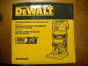 DEWALT DCW600B 20V MAX XR Compact Cordless Brushless Router New