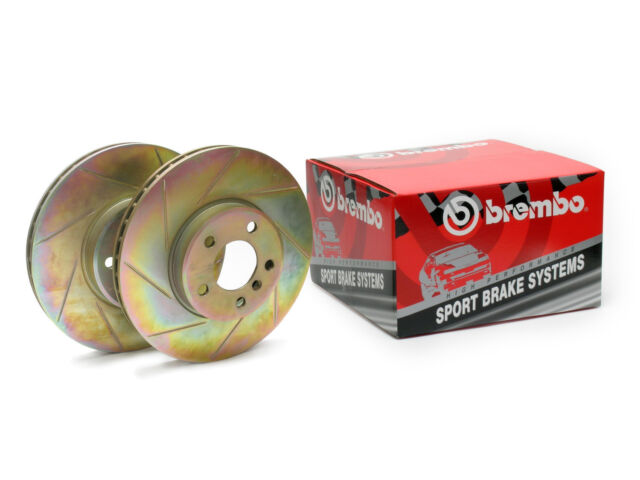 Genuine Brembo Sport Discs - Front Axle Pair 33S60080 Slotted Brake Rotors