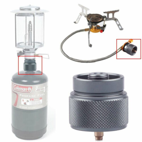 1LB Adapter Camping Propane Small Gas Tank Adapter Input Lindal Output Stove 1Pc