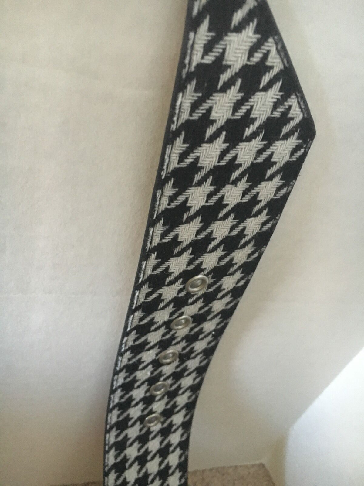 NWT Ladies Rhinestone And Hounds Tooth Belt Hot In Hollywood