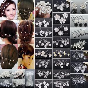 USA SELLER Bobby Pin Rhinestone Crystal Hairclip Hairpin Bridal Long Blue K6