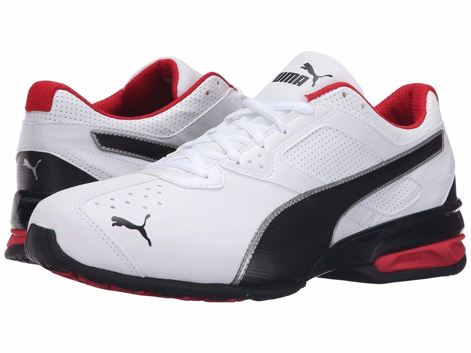 Mens Puma Tazon 6 FM Running shoes White   Black   Silver   Red Sz 11.5 18987302