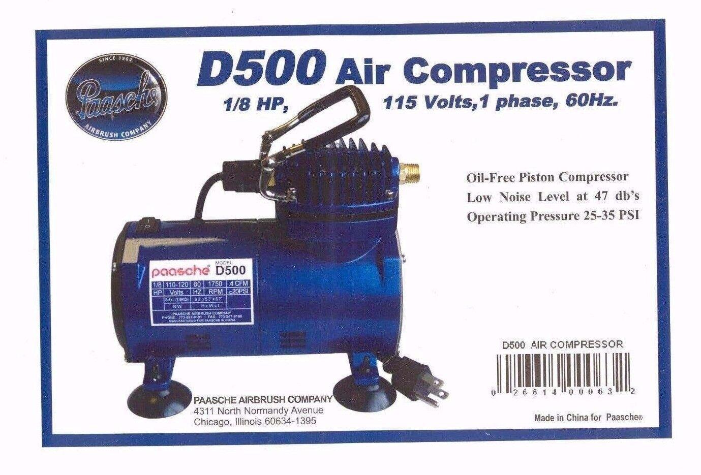 Paasche Air Brush Kompressor - 1 8 H. P.mit Car Absperr- - D500