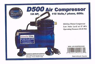 Paasche 174 Air Brush Compressor 1 8 H P With Auto Shut