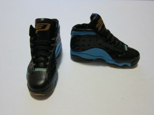 """1//6 Scale Sneakers Shoes Trainers Air AJ13 Black Blue for 12/"""" Action figure"""