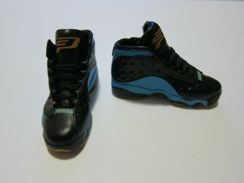 "1//6 Scale Sneakers Shoes Trainers Air AJ13 Black Blue for 12/"" Action figure"