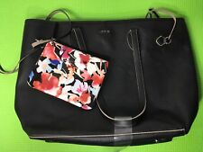 Khaki Lining LODIS Bliss Black Leather Tote With Wristlet New without tags