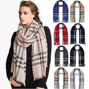 MODE FEMMES acrylique lin solide Long Châle Pashmina Echarpe foulard ... e88d5321f2c