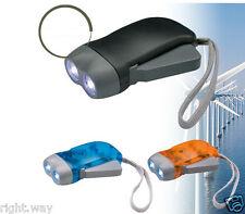 2PCs 2 LED Bulb Dynamo Hand Press Rechargeable Flashlight Torch Wind Crank Light
