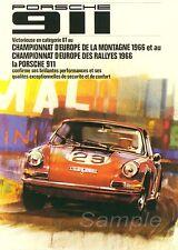 Vintage Porsche 911 Rally A3 cartel impresión