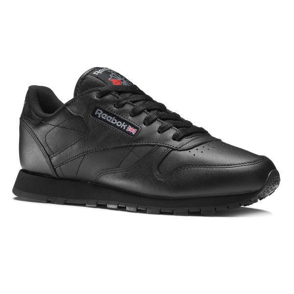 REEBOK CLASSIC LEATHER 50149 shoes RAGAZZO women PELLE COL BLACK black 36 37 38