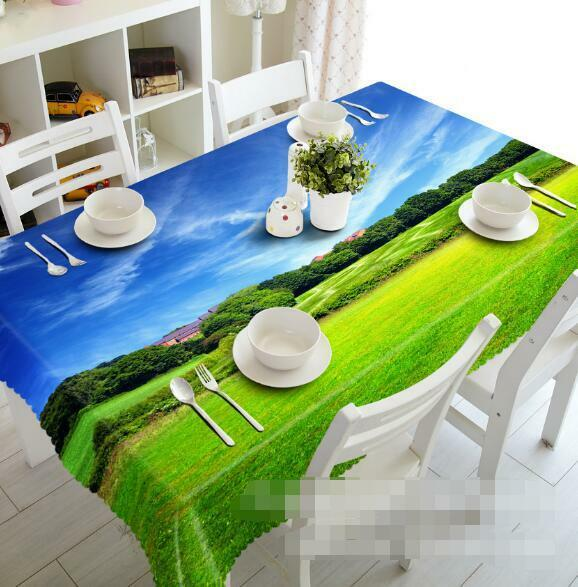 3D Lawn Tree 6 Tablecloth Table Cover Cloth Birthday Party Event AJ WALLPAPER AU