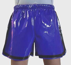 Lack PVC Shorts mit Gummizug Freizeit Shorts  Größe M~L~XL~2XL~3XL