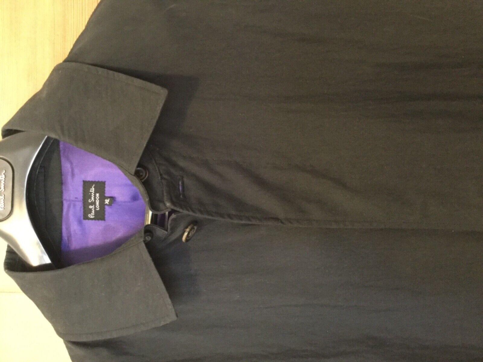 Classic Paul Smith London Dark Navy Overcoat Raincoat Size XL