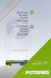 Details about FIRST BUS TIMETABLE - 98/99 - BALL GREEN/CHELL  HEATH-NEWCASTLE - JANUARY 2019