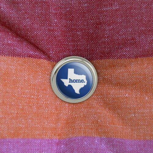 Set of 4 Texas TX Home State Navy Blue Licensed Metal Craft Sewing Buttons