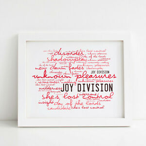 Joy Division Unknown Pleasures Framed Canvas Print