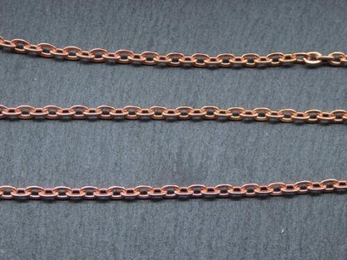 3.3 x 4.3 mm Liens 5//10//20 pieds de véritable Cuivre Câble Plat Chaîne