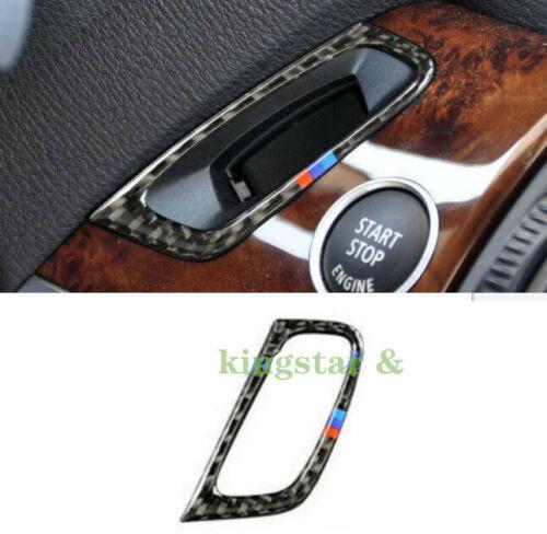 Carbon Fiber Interior Keyhole Cover Trim Parts For BMW X5 X6 E70 E71 2008-2013~