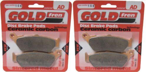 Disque de frein Plaquettes Avant Goldfren cc Aprilia ETV 1000 Caponord 2003