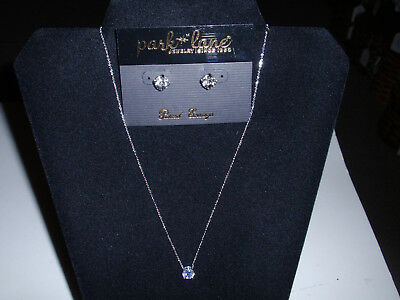 "Capable Park Lane Jewelry Goods Of Every Description Are Available ""tiffani"" Necklace & ""signature"" Earrings Cz's New!!"