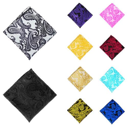 UK/_ EG/_ Men/'s Pocket Square Handkerchief Paisley Wedding Party Decor Suit Hanky