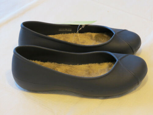 Crocs Womens Olivia II Lined Flat Navy blu relaxed fit W 5 W5 shoes Dual Comfort
