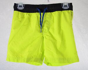 a42e60a961 Kids OLD NAVY Boys Swim Suit Trunks Neon Green Black Blue XS Size 5 ...