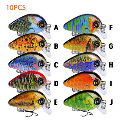 10cm Fishing Lures Floating Crankbaits Minnow Baits With Barbed Hooks Tackle lot
