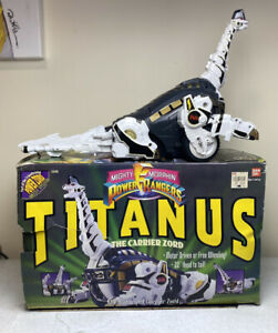 1993 Bandai Mighty Morphin Power Rangers Titanus The Carrier Zord Complete
