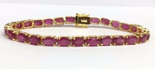 14 kt gold, 20+ CTW RUBY AND gold LADIES BRACELET, Luxury