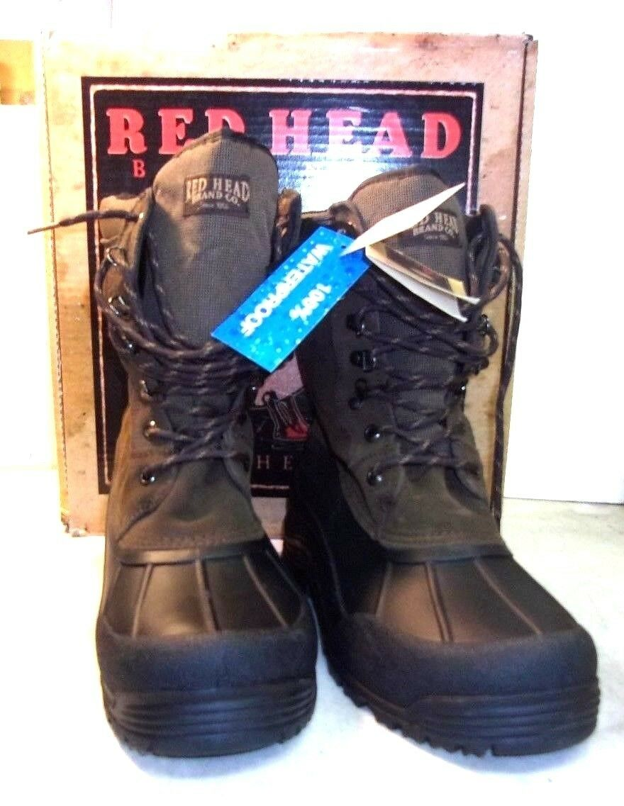RED HEAD MEN'S TUNDRA PAC BOOT New in Box 10M Thermolite 100% Waterproof
