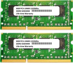 16GB 2x 8GB Apple MacBook Pro 2.7GHz Intel Core i7 13-inch Early-2011 Ram Memory
