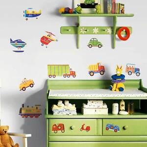 Details zu Wandsticker Wandtattoo Transportfahrzeuge Autos Kinderzimmer  Jungen Kinder Auto