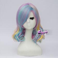 Lolita 35cm Shoer Multi-colors Curly Heat Resistant Cosplay Wig + Free Cap