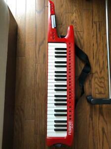 Roland-AX-1-AX1-Shoulder-Keytar-Music-keyboard-MIDI-Controller-Red-Used-Japan