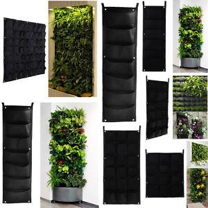 64 Pockets Outdoor Vertical Greening Hanging Wall Garden Plant Bags