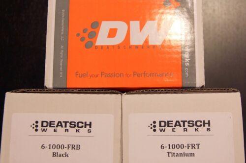 DeatschWerks 6-1000-FRB DWR1000 Fuel Pressure Regulator FRP Anodized BLACK