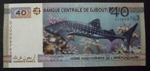 2017 P-New Comm Djibouti 40 Francs x 10 Pcs 40th Anniversary of Independence