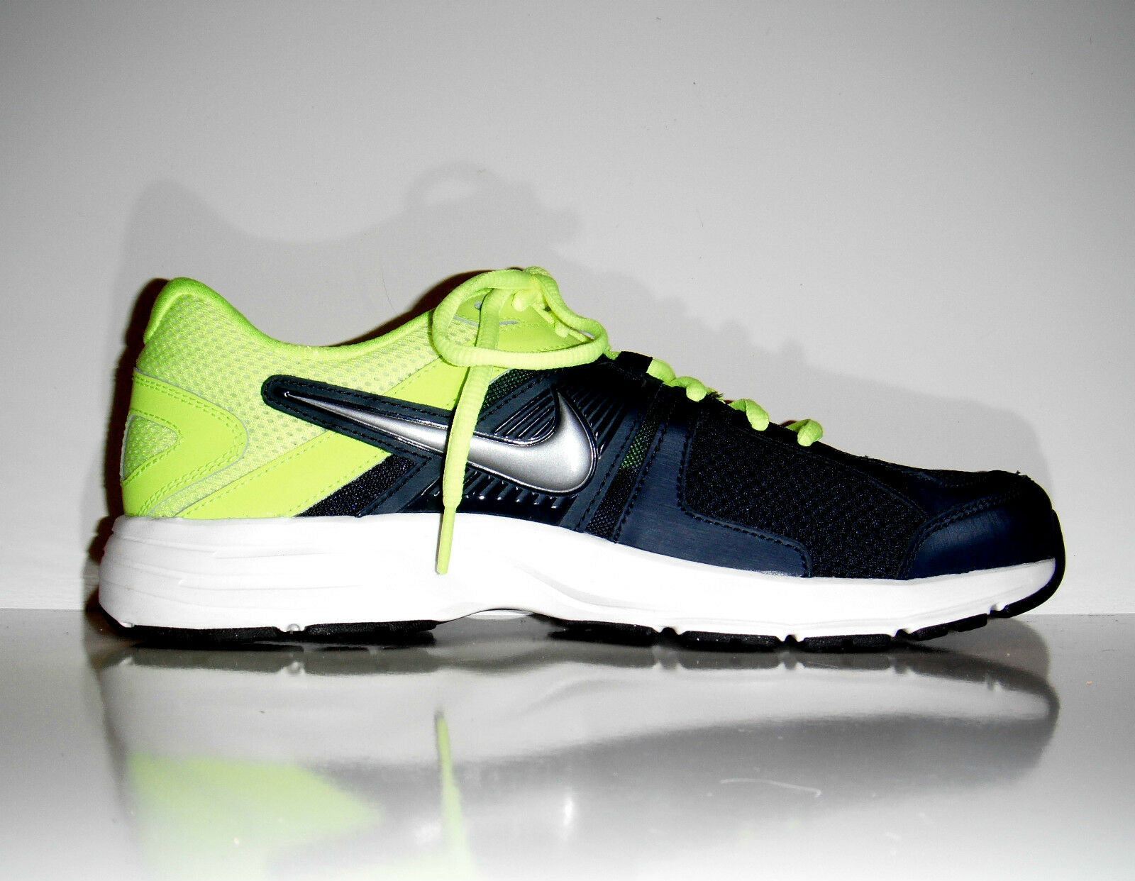 120 New Nike 580523 Men Dart 10 Running Navy Yellow shoes sz 9.5