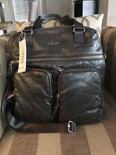 NWT Kipling Camryn Laptop Handbag Satchel Grey Metallic 934 Gilded Bag Large