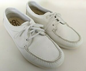 sas comfort shoes mens size 95 wide white walking casual