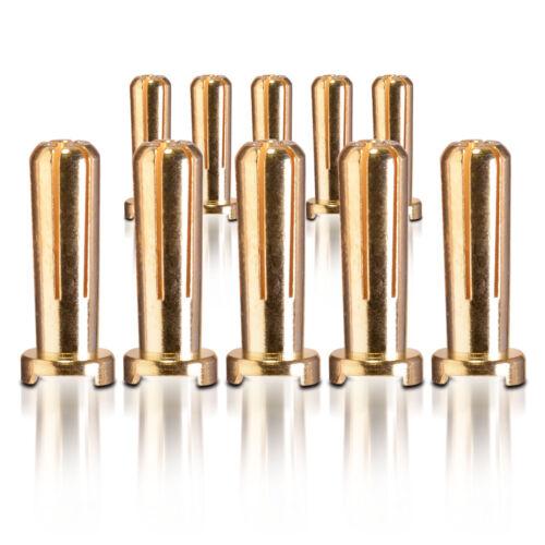Goldkontakt Heavy Duty Winkelstecker 5.0 mm 10 Stk partCore 100026