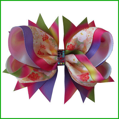 "5/"" ABC Hair Bow Clip #474 50 Wholesale BLESSING Good Girl Baby Boutique 4.5/"""