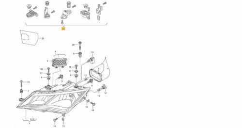 Genuine SEAT LEON 2017 /> Onwards phare cassé réparation Kit Rh Côté mk3 Drivers