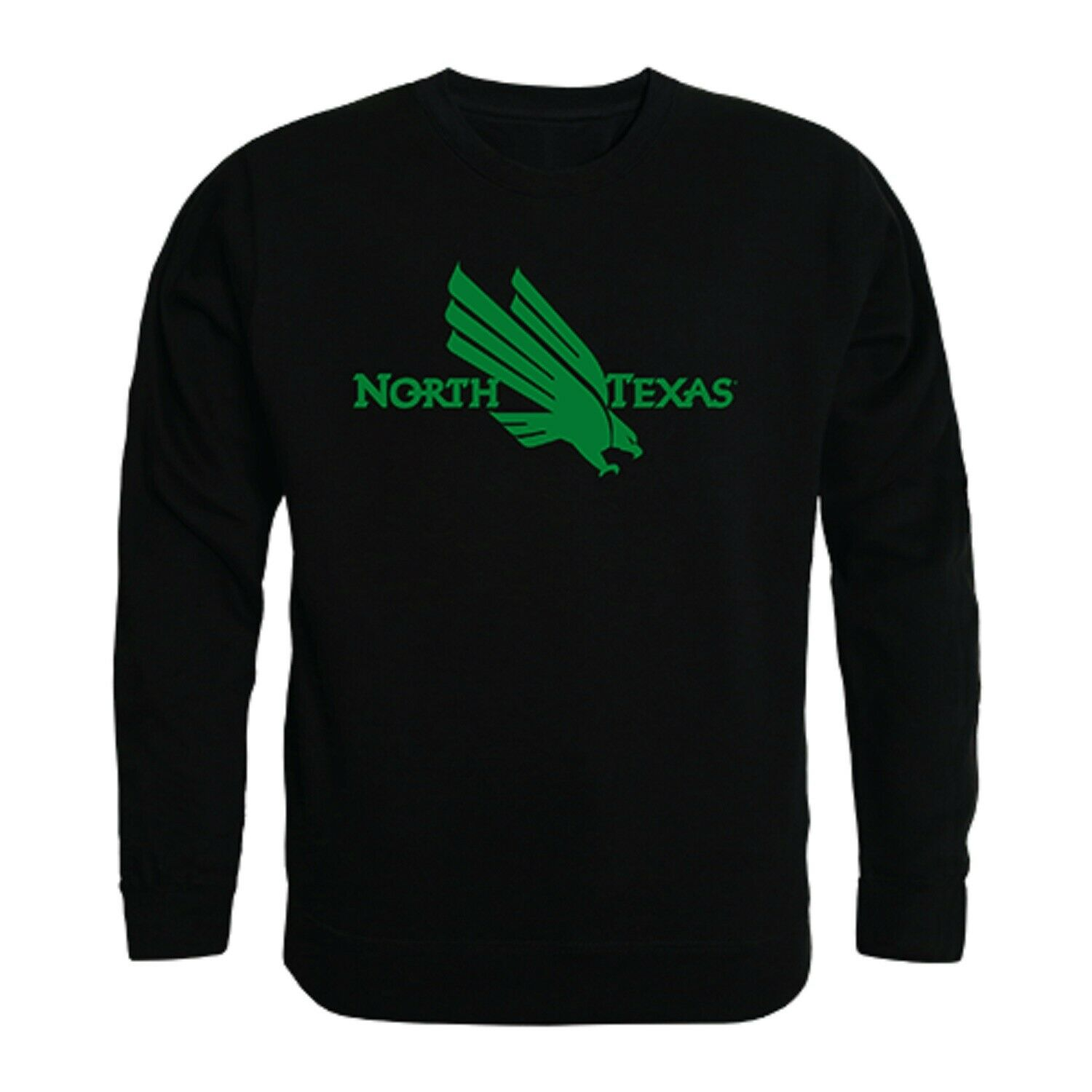 University Of North Texas Mean Green UNT NCAA Crew Sweater - Officially Licensed