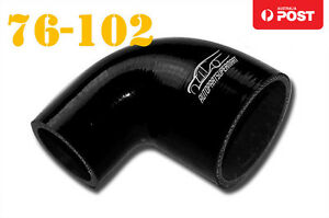 4-Ply-Silicone-90-Degree-Reducer-Elbow-Joiner-Hose-Pipe-76mm-102mm-3-034-4-034-Black
