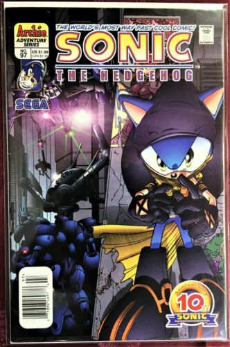 SONIC The HEDGEHOG Comic Book #97 July 2001 KNUCKLES Bagged /& Boarded NM