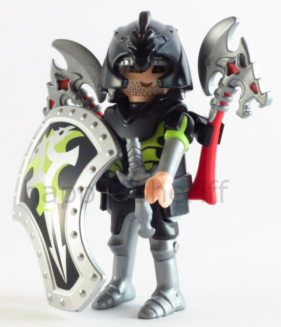 Playmobil Green Knight Warrior with Axes and Shield Mystery Series 12 9241