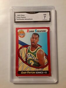1991-92-Fleer-Rookie-Sensations-GARY-PAYTON-9-Seattle-Supersonics-GMA-NM-7